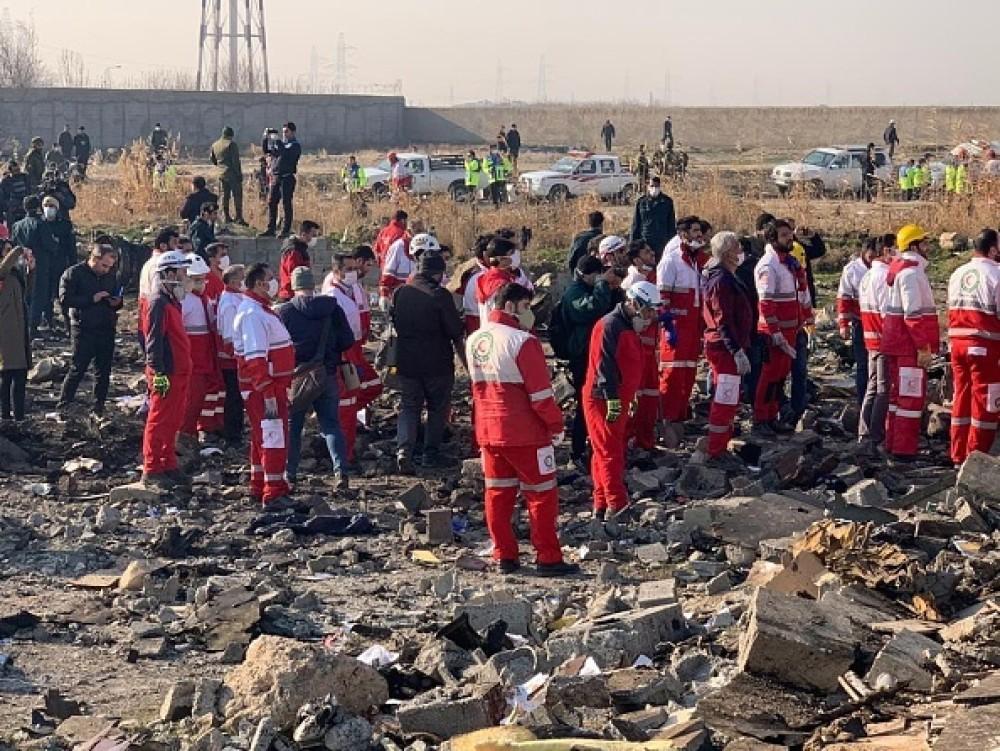 В Иране вскоре после взлёта разбился украинский пассажирский лайнер
